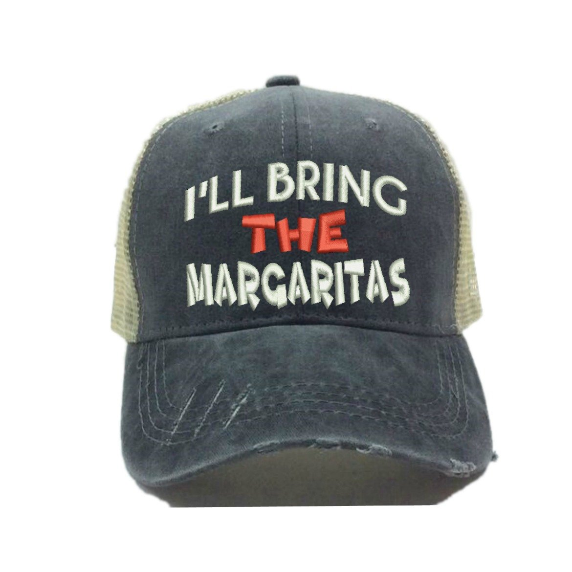 Distressed Trucker Hat I ll Bring The Alcohol Or Bad Decisions Custom Funny  Party Baseball Cap Many Sayings Colors (Coral