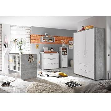 Storado De Babyzimmer F Zwillinge Frieda Set5 Vintage Wood Grey