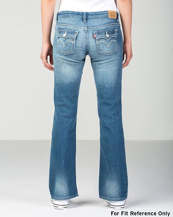 f84ec594e Amazon.com: Levi's Girls' 715 Thick Stitch Bootcut Jean: Girls Clothes:  Clothing
