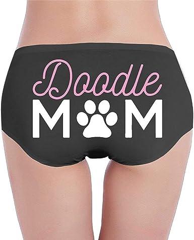 Adamitt Doodle Mom-1 Bikini de algodón de Cintura Baja para Mujer, Braguita de Bikini Suave: Amazon.es: Ropa y accesorios