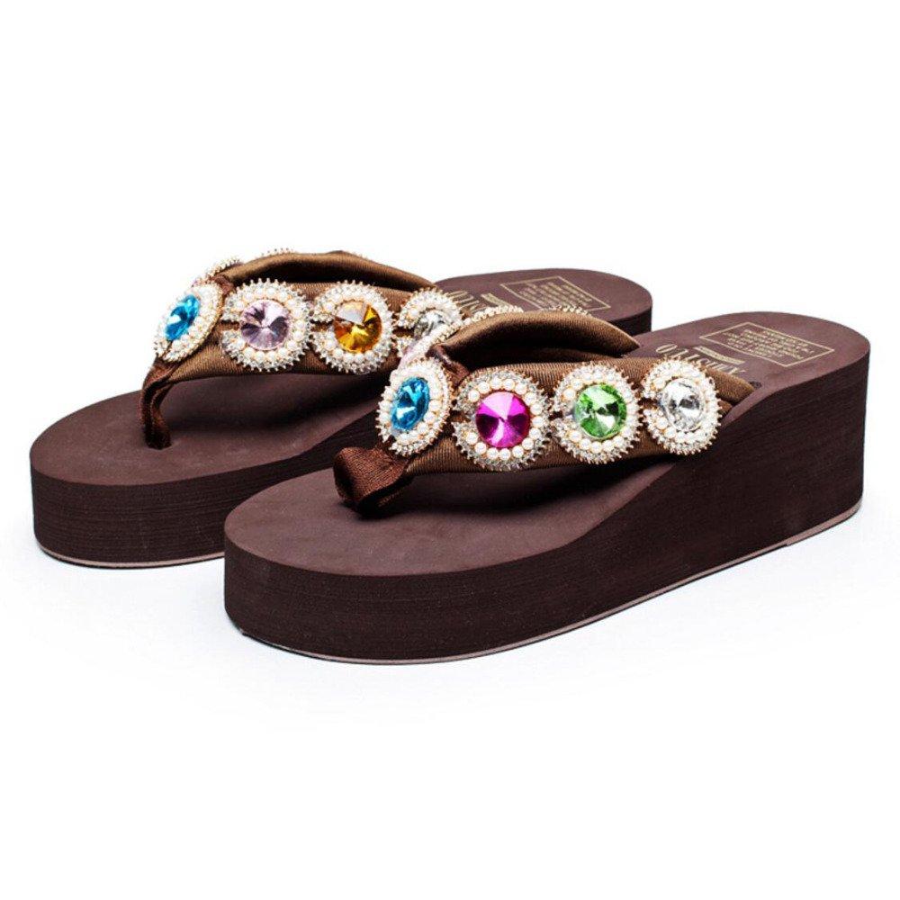 Sandalias Frescas De Verano Sandalias Pin De Moda Sandalias Antideslizantes De Tacón Alto De Mujer De Tacón Alto Suelas Simples Zapatos De Playa Zapatos Romanos Casuales Talón 5.5cm