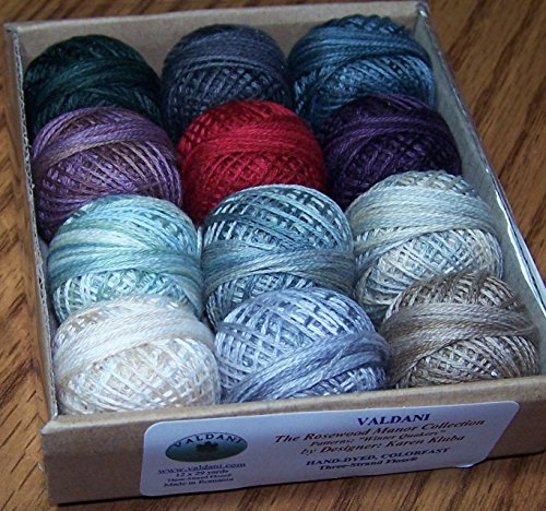 (Valdani 3-strand cotton floss - Winter Quakers - Rosewood Manor)