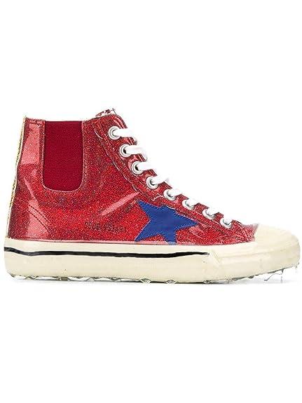 Golden Goose Mujer G33WS638T5 Rojo Tela Zapatillas Altas: Amazon.es: Zapatos y complementos