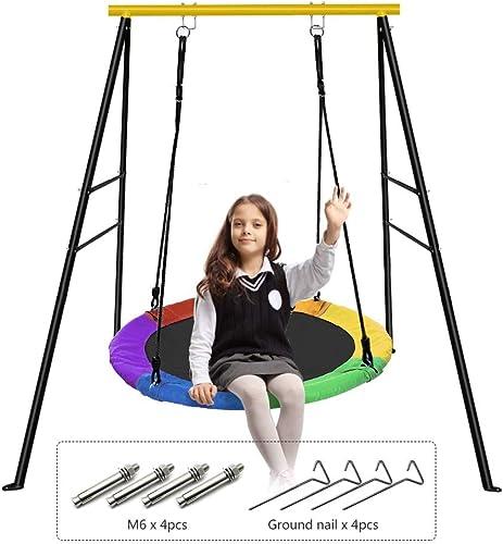 EOSAGA Saucer Tree Swing and Swing Frame Set