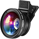 DIGIANT 2in1 iPhone Lens Camera Lenses Kit Macro Lens Wide Angle Lens with Clip-on for iPhone, Samsung, Android Smartphones, iPhone 5 5se se 4 4S 6 6s 6 plus 7 7 plus