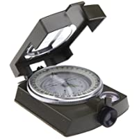 Generic Portable Camping Compass Military Army Geology Lensatic Prismatic Compass Multifunctional Outdoor Camping Exploration Tool with Fluorescent Light aluminum alloy