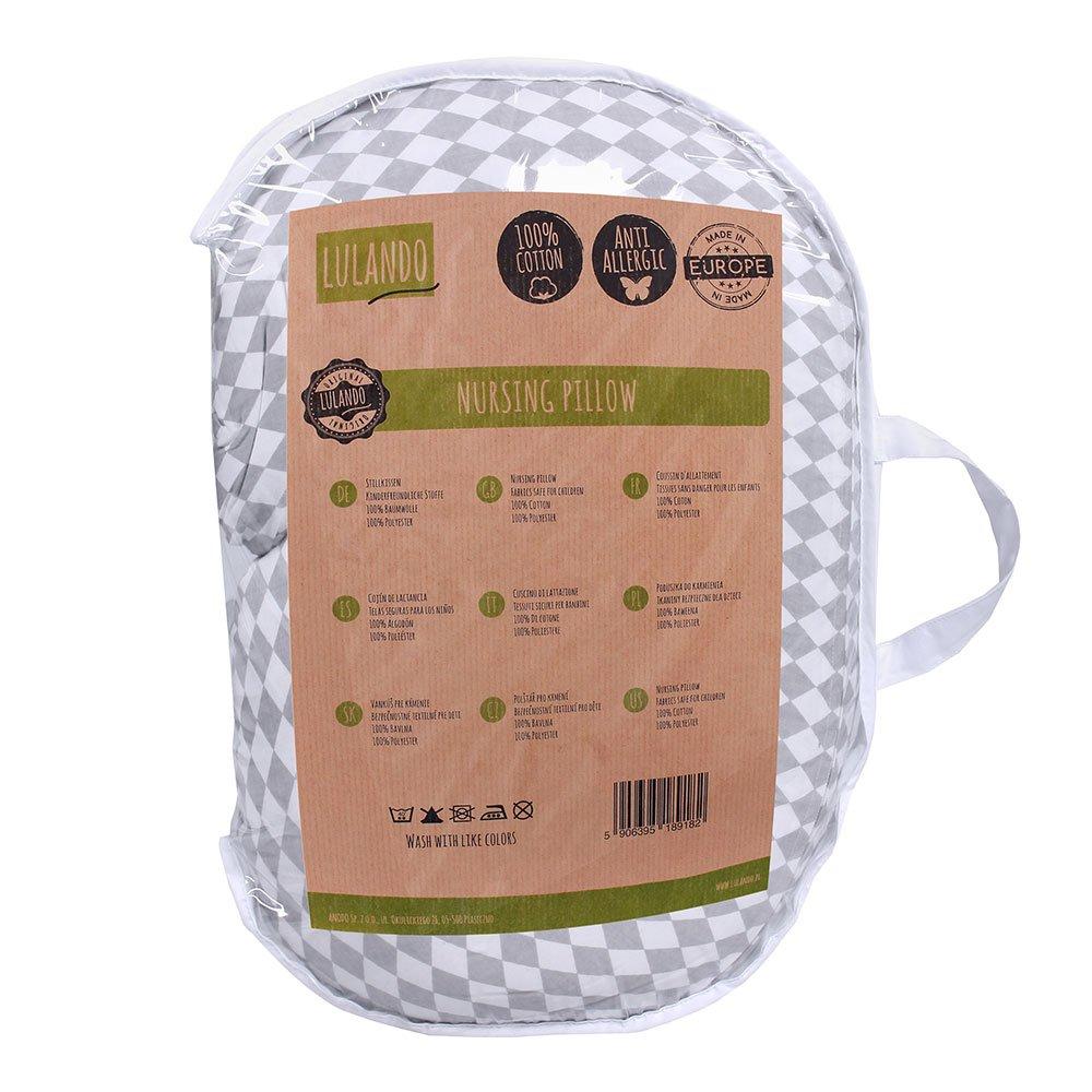 hergestellt in der EU. waschmaschinenfest weiches und flexibles Nackenkissen und Lagerungskissen Standard 100 von /Öko-Tex 100/% Baumwolle LULANDO Stillkissen 55 x 42 cm f/ür Babys und Schwangere