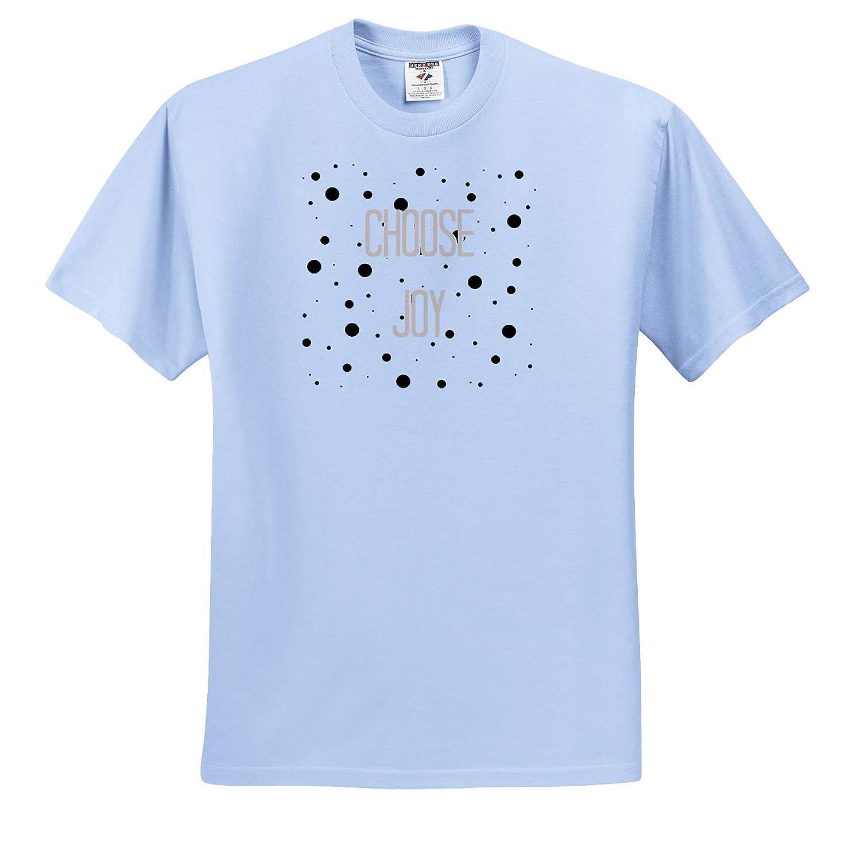 3dRose Gabriella-Quote Image of Choose Joy Dots Quote ts/_317780 Adult T-Shirt XL