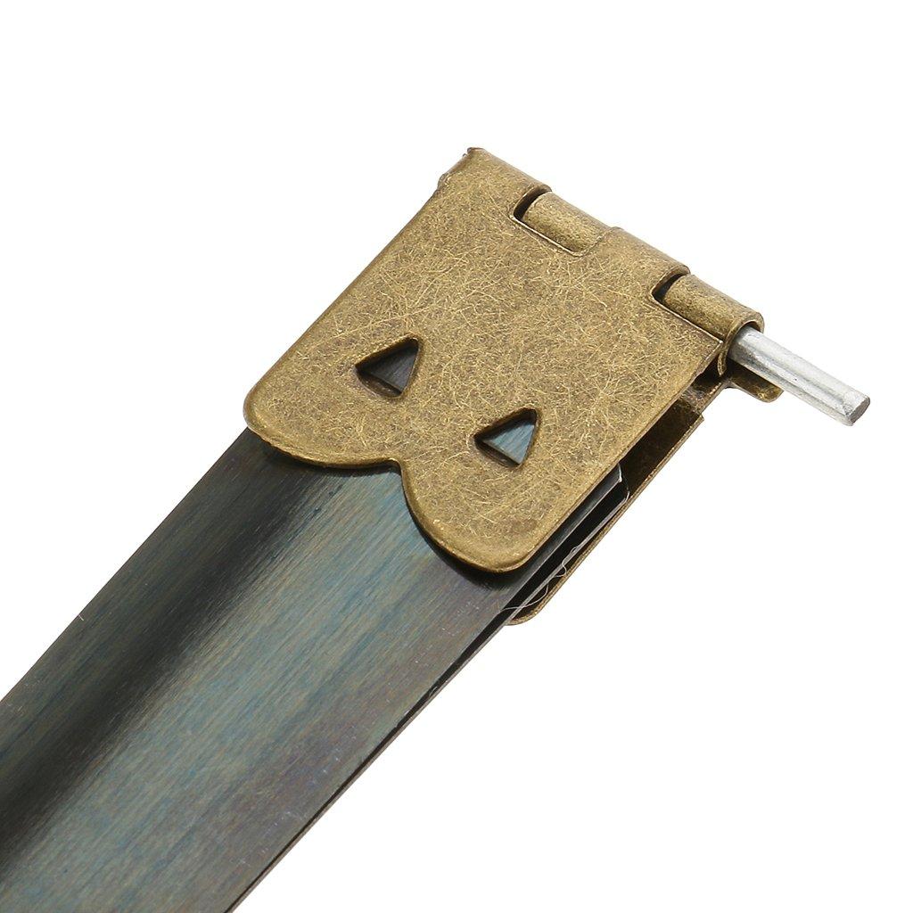 MagiDeal 10 Piezas Shrapnel Mouth Boca de Metralla por Bolso Suministros para Hacer Monederos 10x1.4 cm de Bronce
