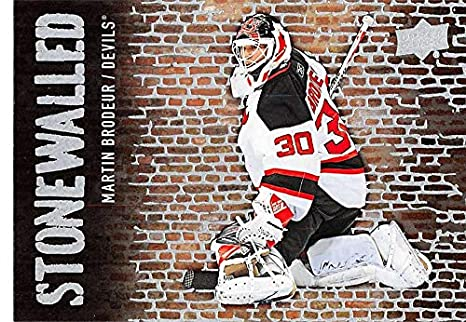 2018-19 Upper Deck Stonewalled Hockey  SW-47 Martin Brodeur New Jersey  Devils 6fe331f7a