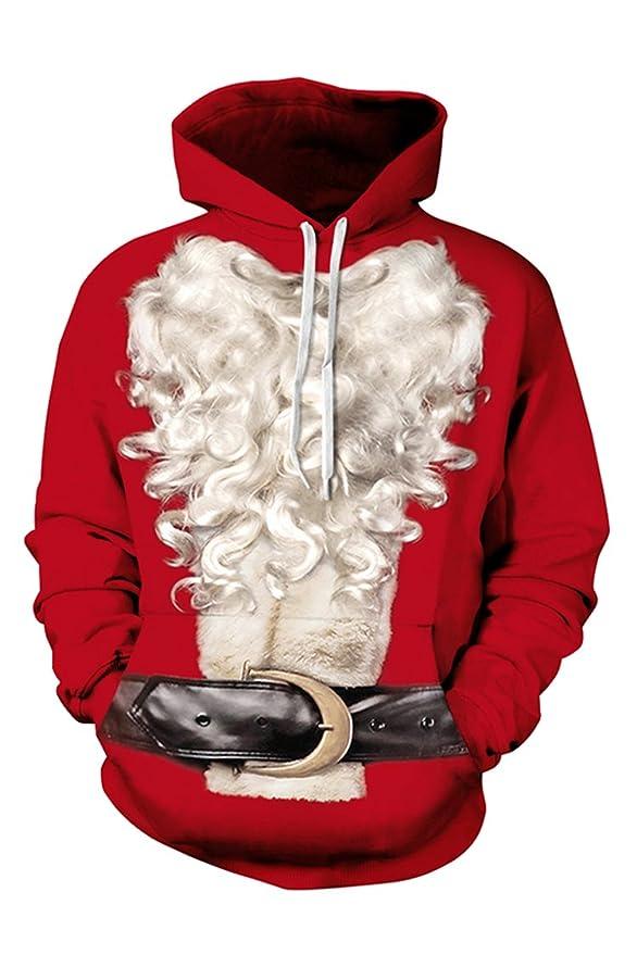 3D Santa Beard Sweatshirt