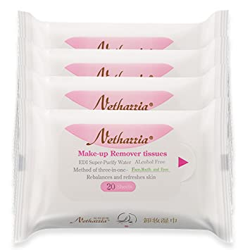 Amazon.com : Nethazzia Cleansing Makeup Remover Facial Wipes, Waterproof Mascara Remover Refill Pack (40 sheets) : Beauty