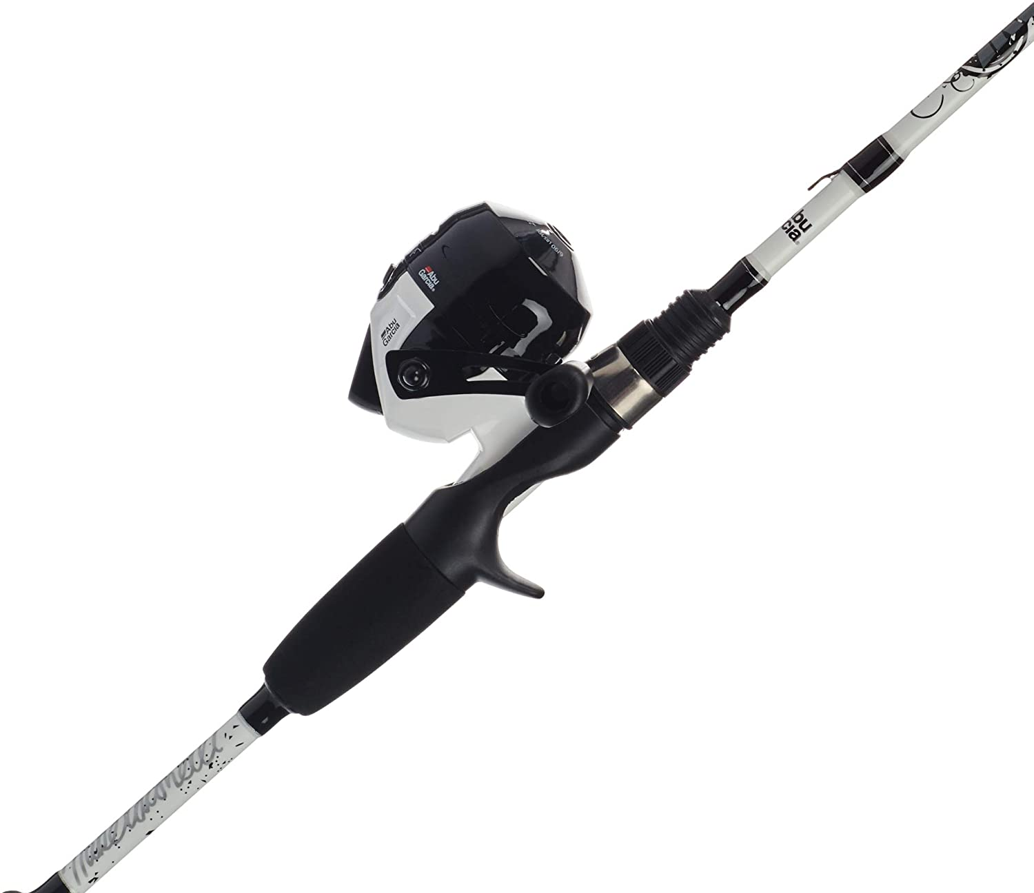 Abu Garcia Mike Iaconelli Pro-Designed Youth Reel and Fishing Rod Combos, White, 5'6