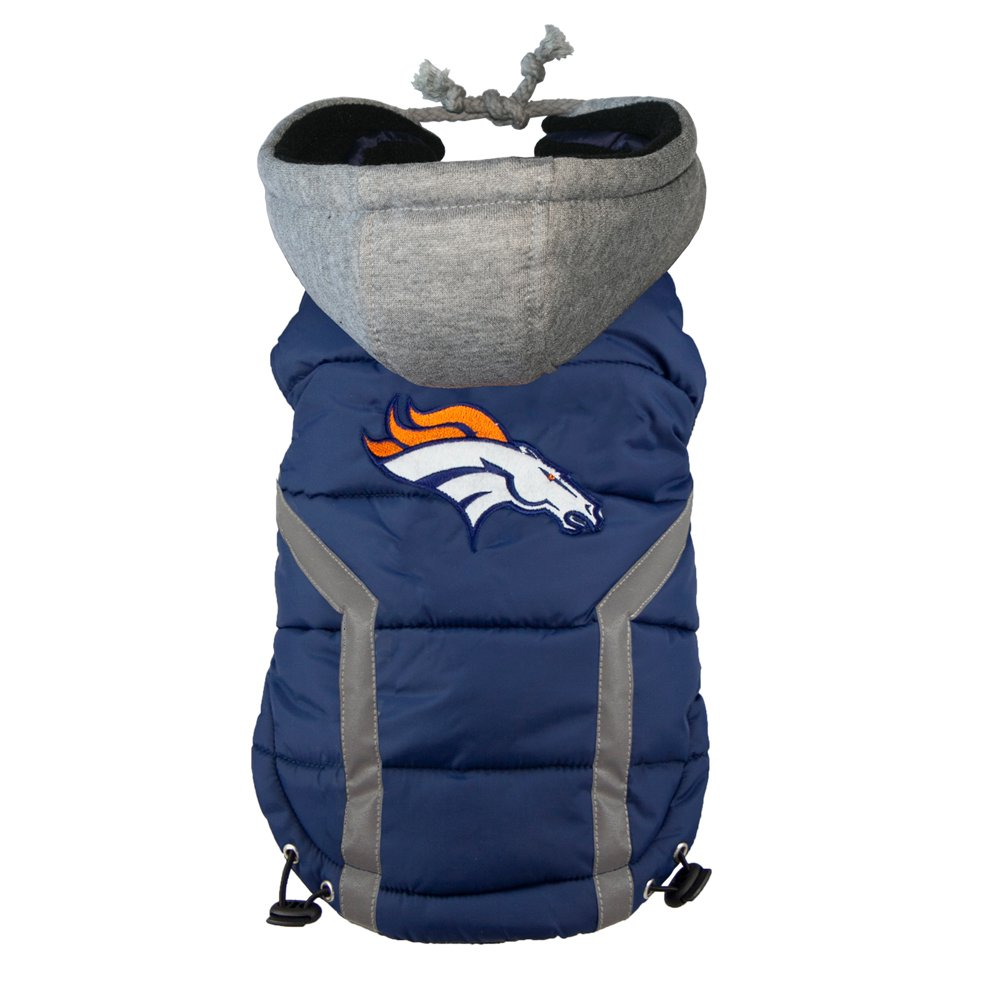 more photos 3ddfe e1d4c Littlearth NFL Denver Broncos Dog Puffer Vest