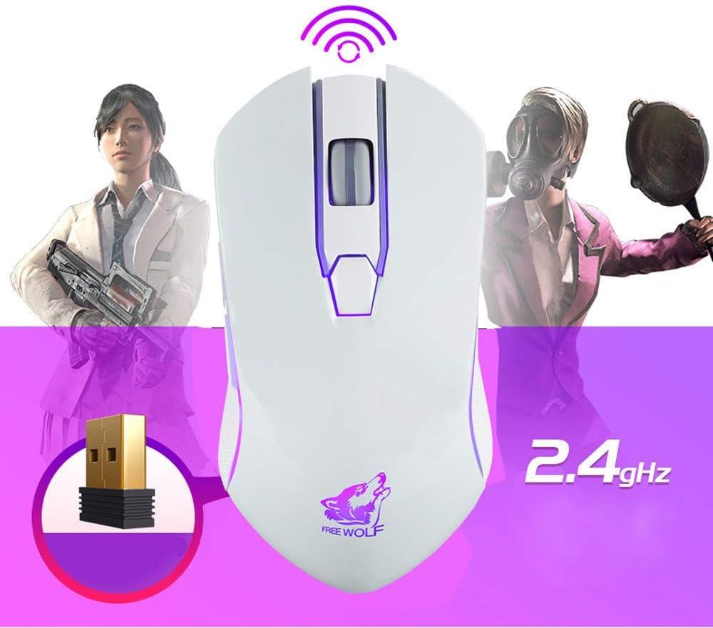 DolloressRechargeable X9 Wireless Silent LED Backlit USB Optical Ergonomic Gaming Mouse Fashion Cool Wrangler Battletech Style Cool Optical Carving 1800DPI High Resolution Pro-Gmaing Sensor