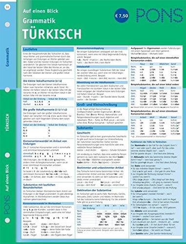PONS Grammatik auf einen Blick Türkisch: kompakte Übersicht, Grammatikregeln nachschlagen (PONS Auf einen Blick)