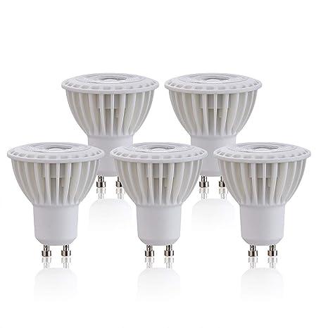 Paquete de 5 bombillas LED AZURE de 7 W GU10, luz blanca cálida, luz