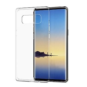 SPARIN Funda Samsung Galaxy Note 8, Carcasa Samsung Galaxy Note8 TPU Transparente [Flexibilidad] Funda de Silicona, Espalda Protección Carcasa para ...