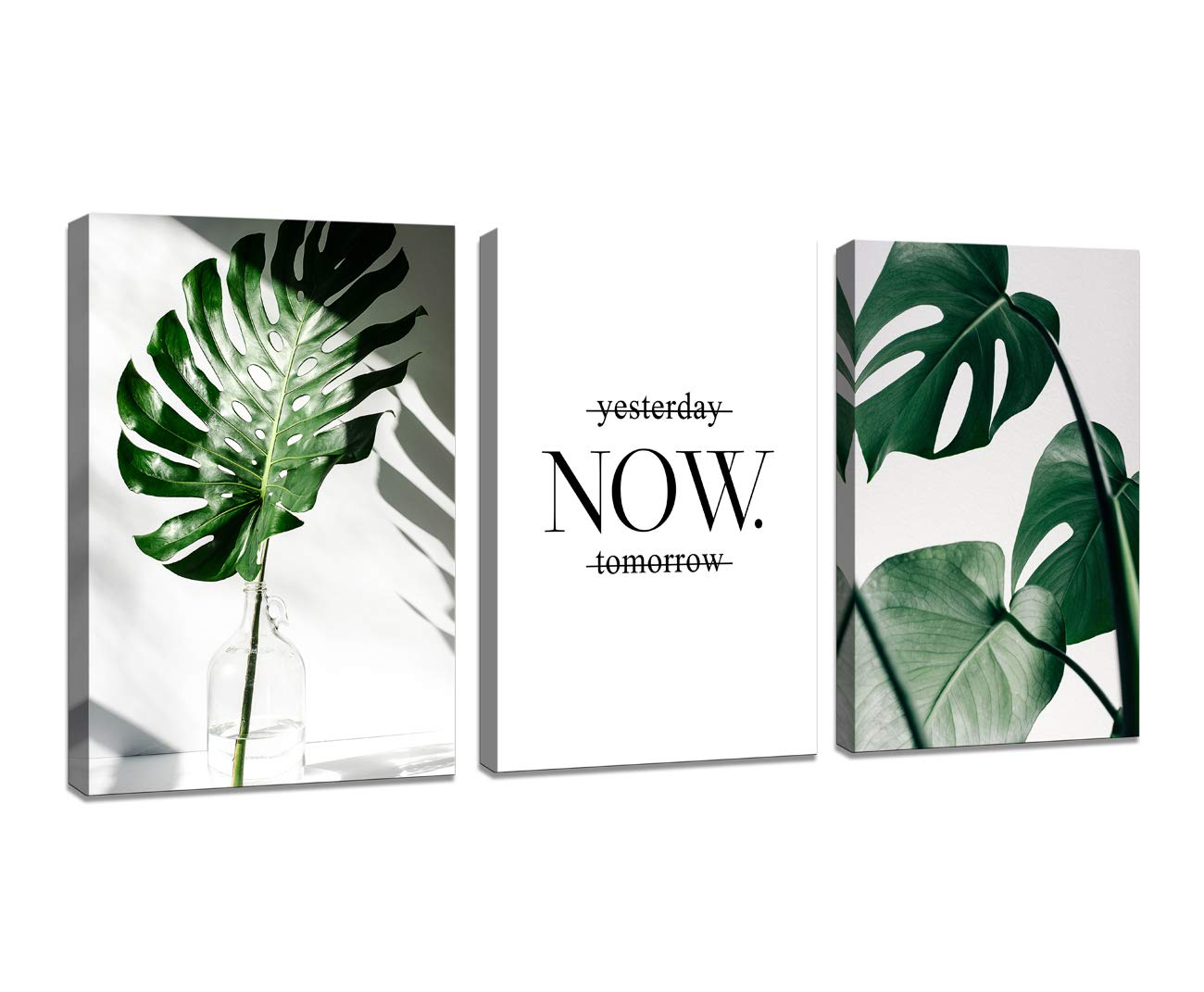 H72534 Nordic Canvas Painting Modern Prints Plant Leaf Art Posters Prints Green Art Wall Pictures Living Room Framed Poster