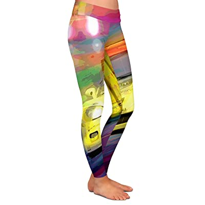 Athletic Yoga Leggings From DiaNoche by David Glover Corvette lemans Racecar