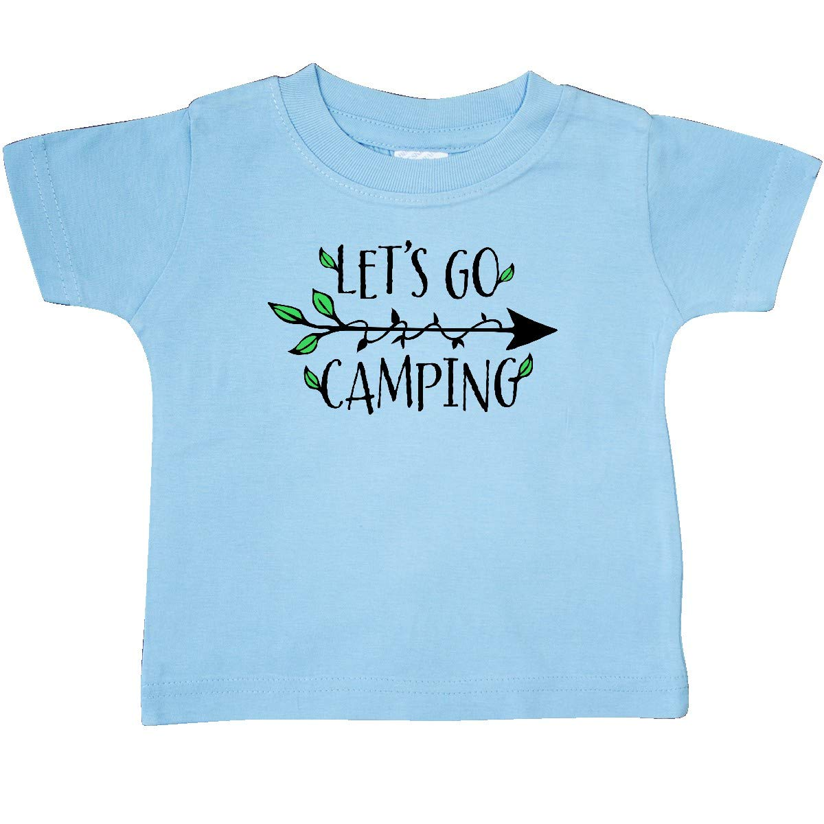 Arrow and Leaves Baby T-Shirt inktastic Lets Go Camping