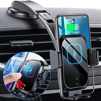 Blsyetec Auto Handyhalterung Mit Ladefunktion 15w Wireless Charger Auto 3 Automatisches Spannen Kfz Qi Induktion Saugnapf Halter 360 Belüftungsclip Elektronik