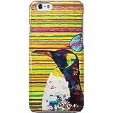 iPhoneSE iPhoneケース (ハードケース) [ミラー付き/カード収納/全面印刷] Nijisuke (ニジスケ) ペンギン CollaBorn (iPhone5s/iPhone5対応)