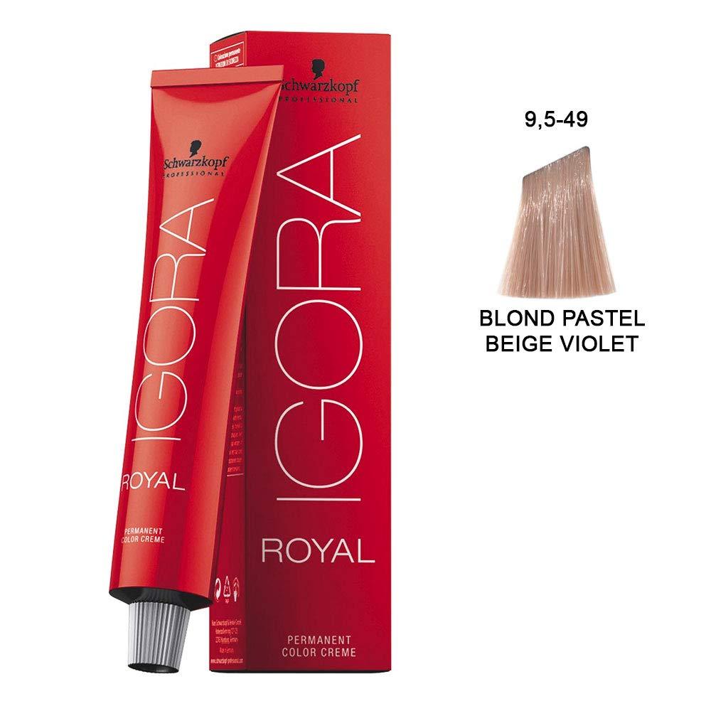 Schwarzkopf Igora Royal Coloración Permanente en Crema para el Cabello 9.5-49 - 60 ml.