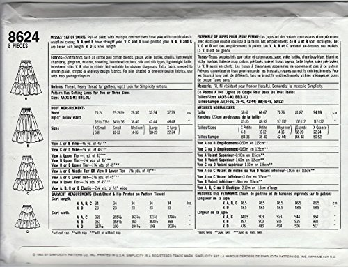 Aa 8624 Ensemble taille Jupes Misses 23 De 1993 30 Boho;tailles Paysannes w0qrH0