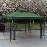 10' X 10' Gazebo Top Cover Patio Canopy Replacement 2-Tier