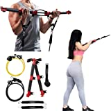 TENSION TONER - Increase Muscle Balance While Getting Lean • 80+ Full Body Exercises • Patented Home Gym System That Folds for Storage or Travel • Resistance Band Training