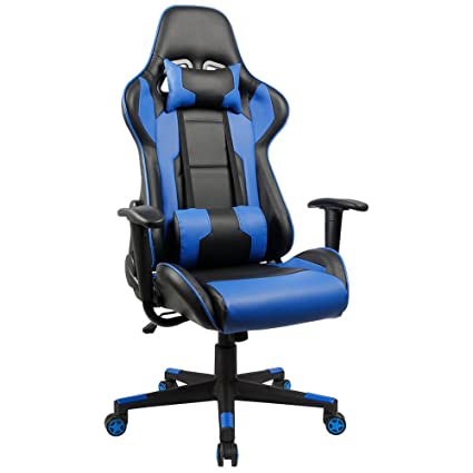 Homall Gaming Chair Racing Style High-Back PU Leather Office Chair Computer Desk Chair Executive  sc 1 st  Amazon.com & Amazon.com: Homall Gaming Chair Racing Style High-Back PU Leather ...