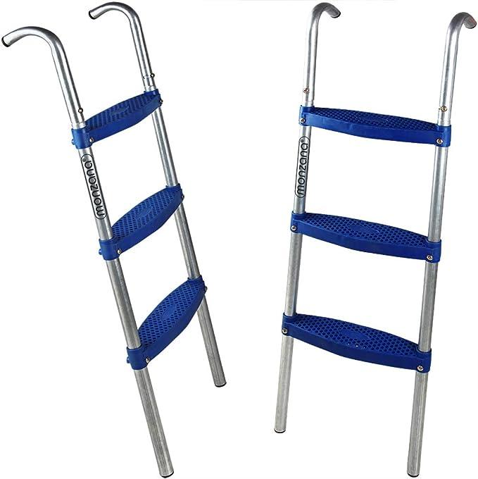 Deuba Monzana Escalera de trampolín Cama elástica de 66/76/90/110 cm 2-3 peldaños Entrada Resistente a los Rayos UV Montaje Flexible: Amazon.es: Deportes y aire libre