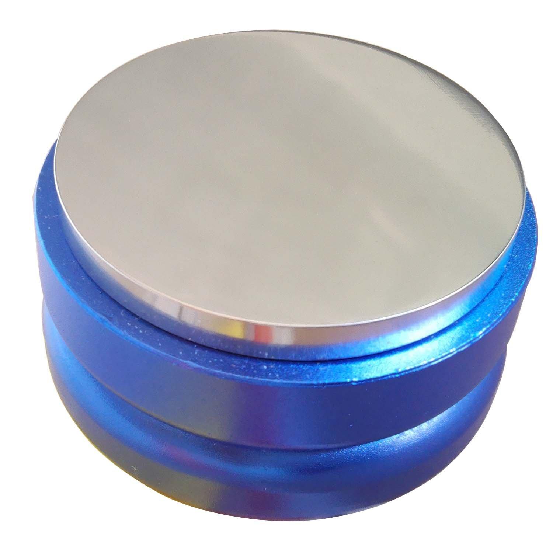 SMKF Adjustable Coffee Distributor/Leveler Tool - Palm Tamper for Espresso - 58mm - Flat (Blue)