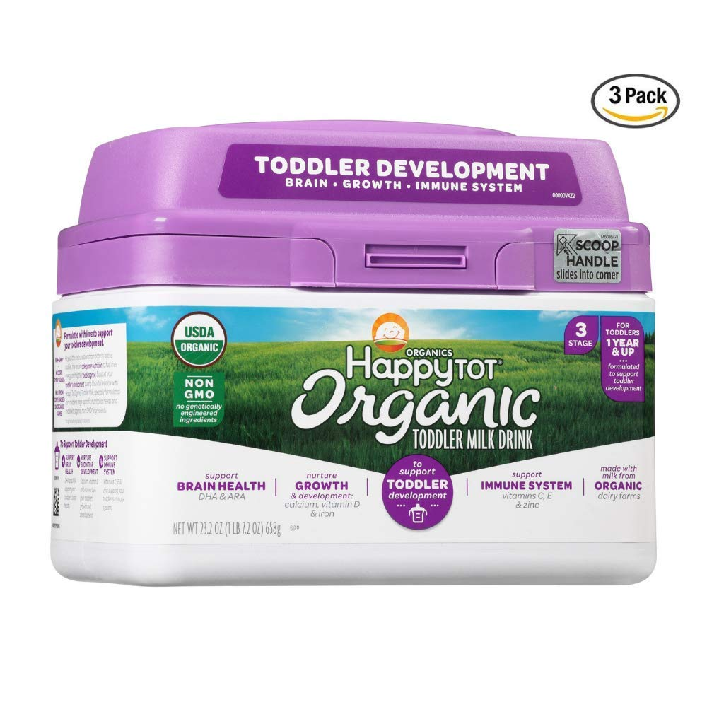 Happy Tot Leche orgánica para bebés, 23.2 onzas, fórmula ...