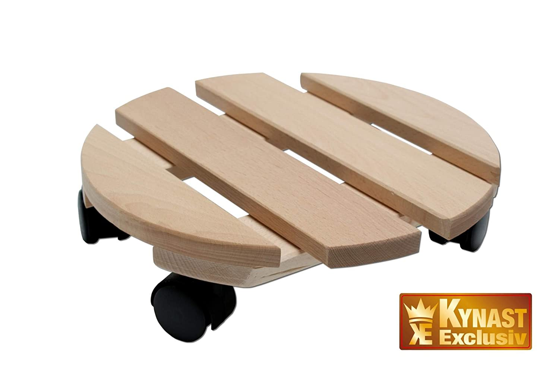 Soporte Para Macetas Redondo De Madera Maciza De 30 Cm Con  # Muebles Soporte Para Macetas