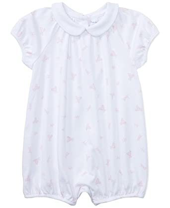 763883a82f Amazon.com: Ralph Lauren Baby Girls Cotton Romper White/Pink Bunnies ...