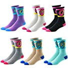 Sherry007 Unisex Donuts Cotton Long Socks Fashion Hiphop Skateboard Sport Crew High Socks