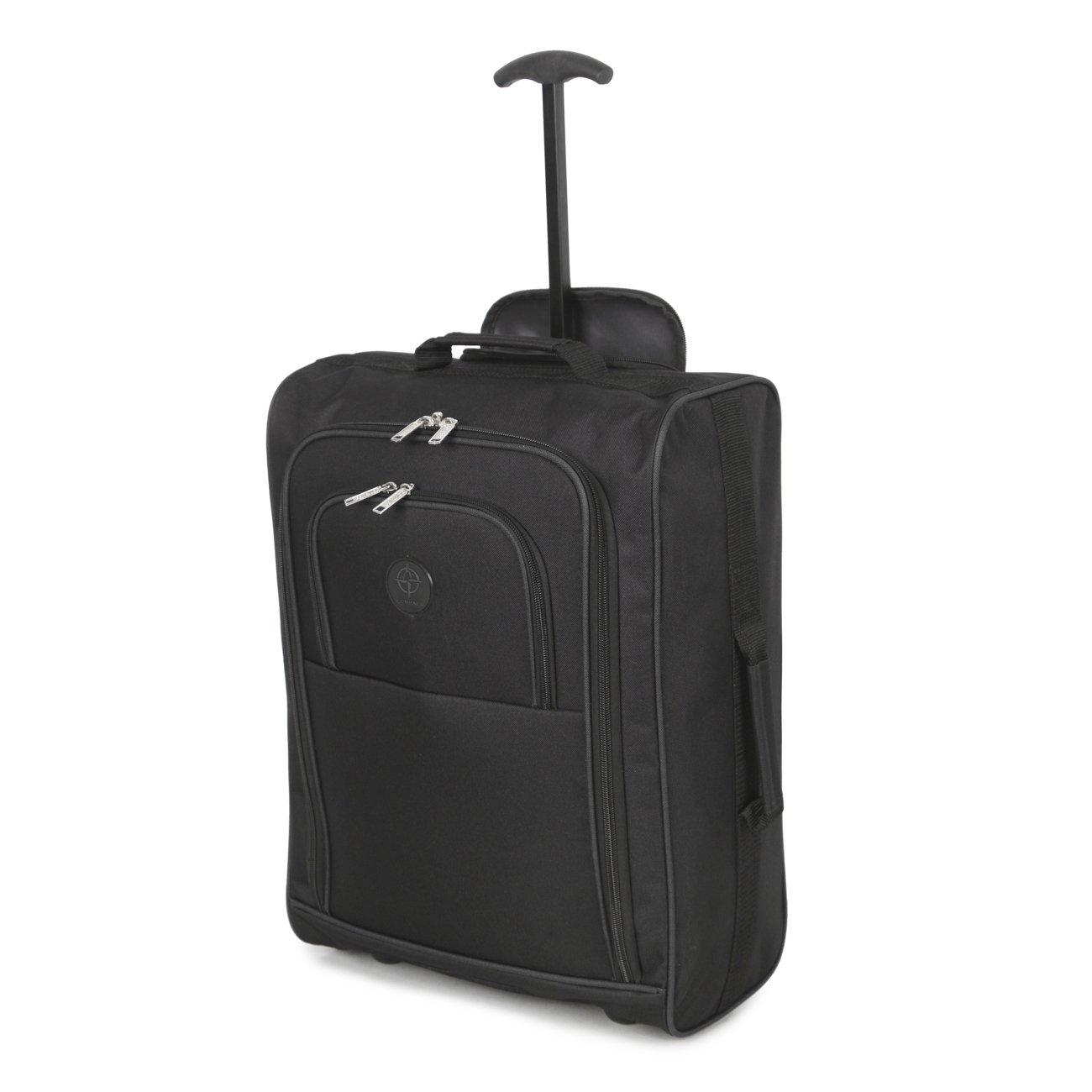 Cabina aprobó el uso de múltiples equipaje de mano en vuelos de equipaje / mochilas bolso de la carretilla (Negro): Amazon.es: Equipaje