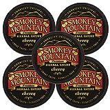 Smokey Mountain Snuff, 5 Cans - Cherry - Tobacco Free, Nicotine Free