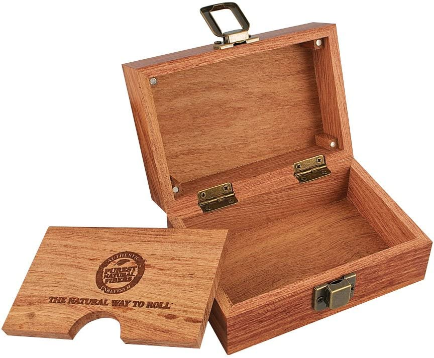 RAW Wooden Box Papers Set Wide Filter Tips Organic Classic 2 x Black KS braun M