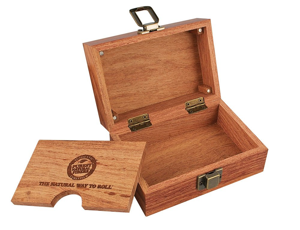 Raw Rolling Wood Box Magnetically Sealed  3.4'' x 5'' Inches