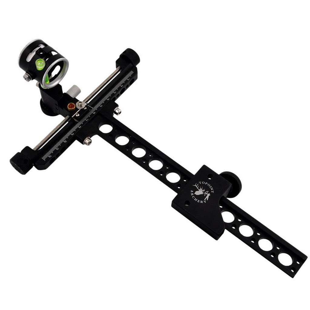 Archery Compound Bow Sight Fine-tuning Single Needle With Magnifying Glass Sight