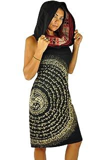 virblatt Vestido Alternativo de Verano a la Rodilla único Talla única Goa Viste con Vestimenta Alternativa