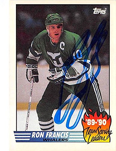 c077211c4 Image Unavailable. Image not available for. Color  Ron Francis autographed  hockey card (Hartford Whalers ...