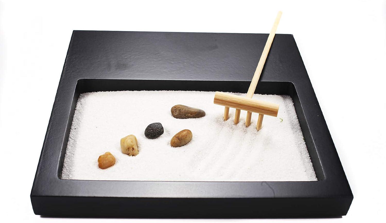 Japanese Zen Sand Garden Mini Meditation Zen Garden Table Décor Kit with Accessories GR001