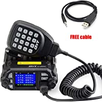 KT-8900D 25W/20W Dual Band Mini Mobile Transceiver Radio Quad-Standby VHF/UHF 136-174MHz/2M 400-480MHz/70CM Car Radio (Ham),with USB Programming Cable