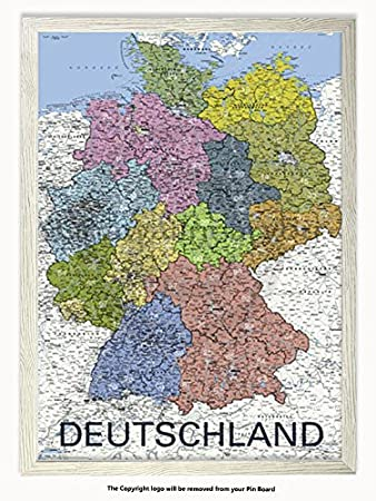 Laminated Posters Framed - Deutschland - Map of Germany - German ...
