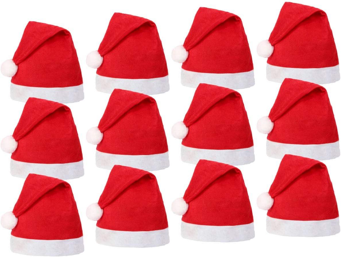 wm-32 cappellino rosso taglia unica per adulti Cappello Babbo Natale