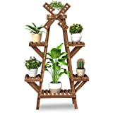 Windmill Flower Stand, Plant Display Stand Rack, Wooden Fleshy Flowerpot Stand, Multi-functional Storage Rack for Indoor…